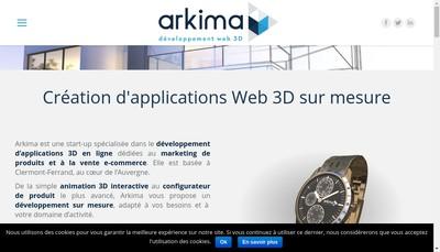 Site internet de Arkima