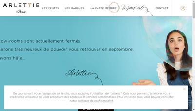 Site internet de Arlettie Paris
