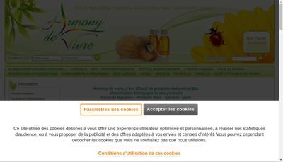 Site internet de Armony de Vivre