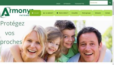 Site internet de Armonys Patrimoine