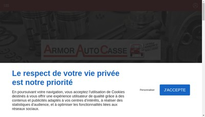 Site internet de Armor Auto Casse