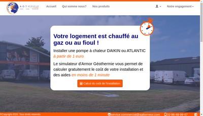 Site internet de Armor Geothermie