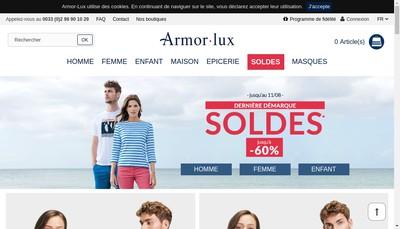 Site internet de Armor Lux
