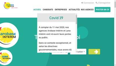 Site internet de Arobase Interim