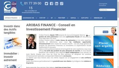 Site internet de Arobas Finance SARL