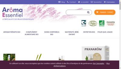 Site internet de Aroma Essentiel