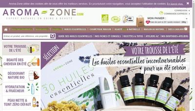 Site internet de Aroma-Zone Store