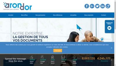 Site internet de Arondor