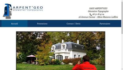 Site internet de Arpent'Geo