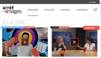 Site internet de Arretsurimages Tv