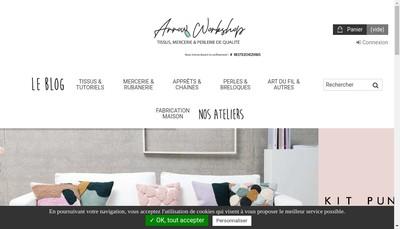 Site internet de Arrow Workshop et The Wolf Cheap Market