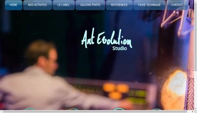 Site internet de Art Evolution