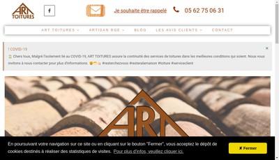 Site internet de Art Toitures