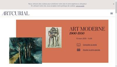 Site internet de Artcurial SAS
