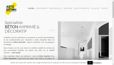 Site internet de Artebeton