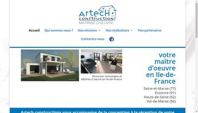 Site internet de SAS Artech Constructions