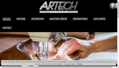 Site internet de Artech Sellerie
