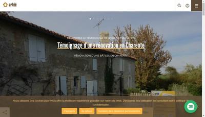 Site internet de Agence Regionale pour les Travaux d'Economies d'Energie
