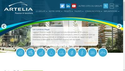 Site internet de Societe Patrimoniale du Groupe Artelia