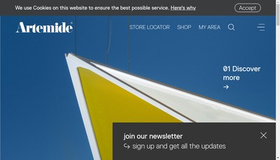 Site internet de Artemide France