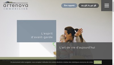 Site internet de Artenova Immobilier