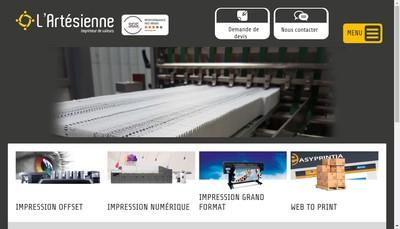 Site internet de L'Artesienne