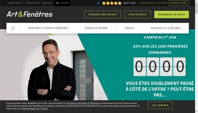 Site internet de Arts et Fenetres