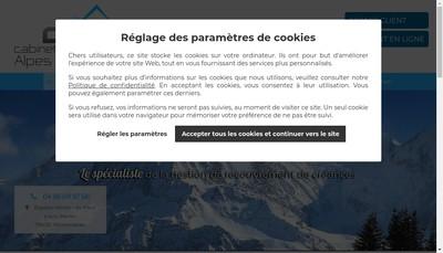 Site internet de Cabinet Savoisien de Recouvrement