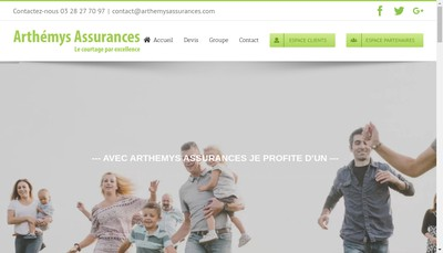 Site internet de Arthemys Assurances
