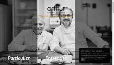 Site internet de Arthur Traiteur
