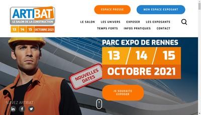 Site internet de Artibat