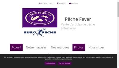 Site internet de Peche Fever