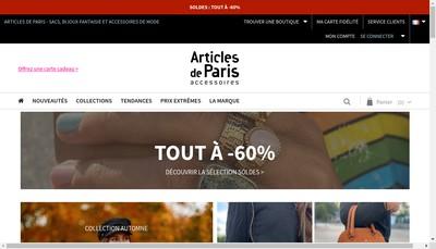 Site internet de Articles de Paris