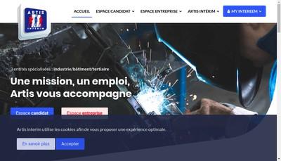 Site internet de Artis Industrie