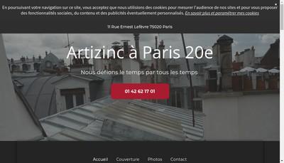 Site internet de Artizinc