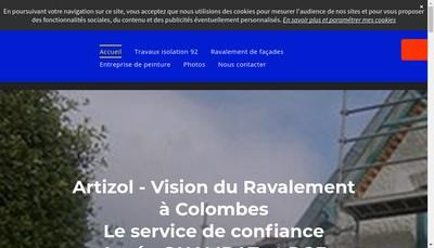 Site internet de Artizol
