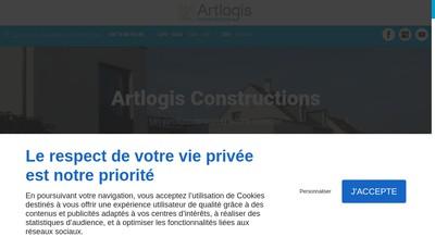 Site internet de Artlogis Constructions