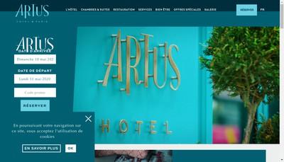 Site internet de Artushotel