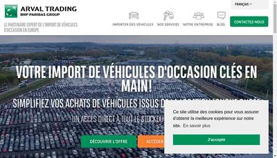 Site internet de Arval Trading