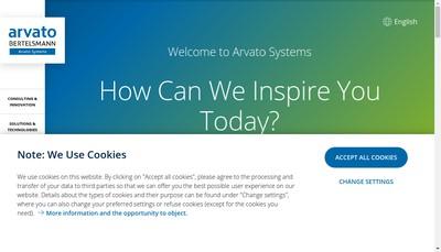 Site internet de Arvato Services Healthcare France SAS