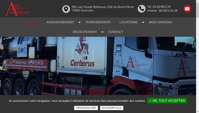 Site internet de Arve Alpes Assainissement