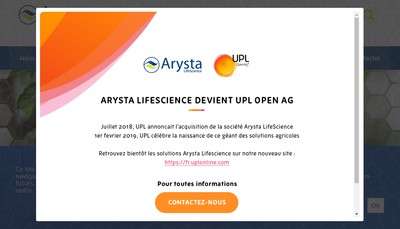 Site internet de Arysta Lifescience