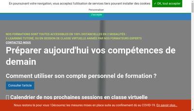 Site internet de As Formation