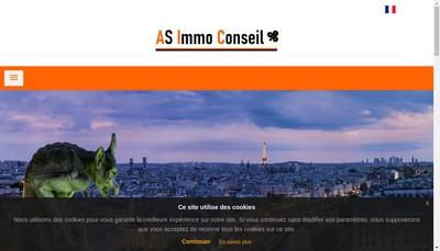 Site internet de As Immo Conseil