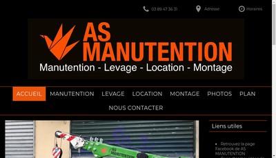 Site internet de As Manutention