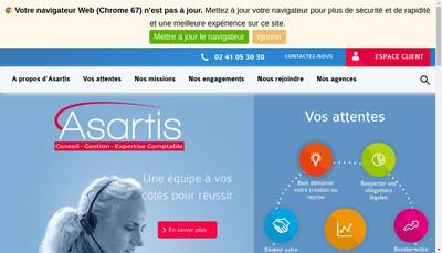 Site internet de Asartis Developpement