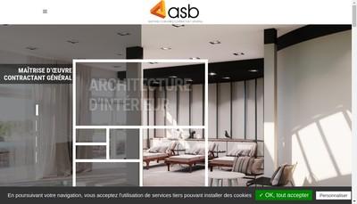 Site internet de ASB Agencement, Maîtrise d'Oeuvre