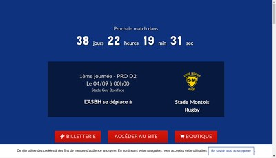 Site internet de Saos Beziers Rugby
