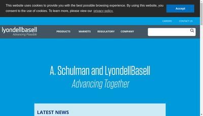 Site internet de A Schulman Plastics