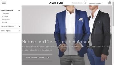 Site internet de Ashton